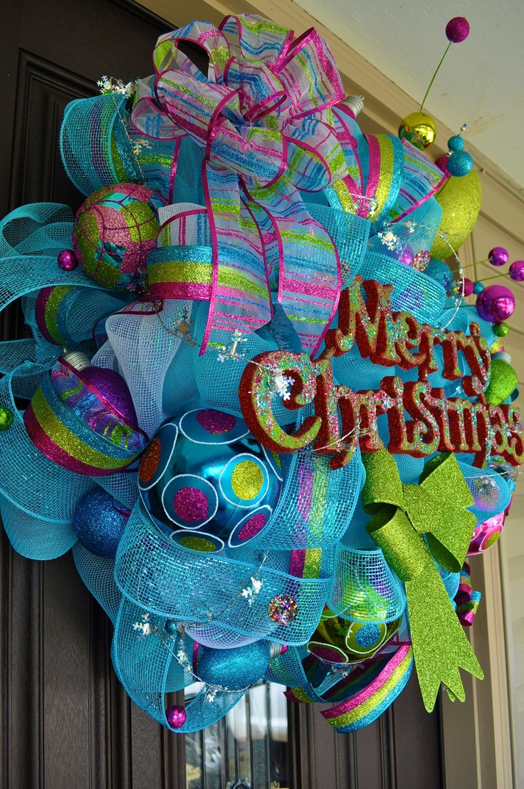 Whimsical Christmas Wreath Design Idea