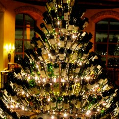 White Wall Decorations Living Room Furniture Houzz Wine-bottle-christmas-tree
