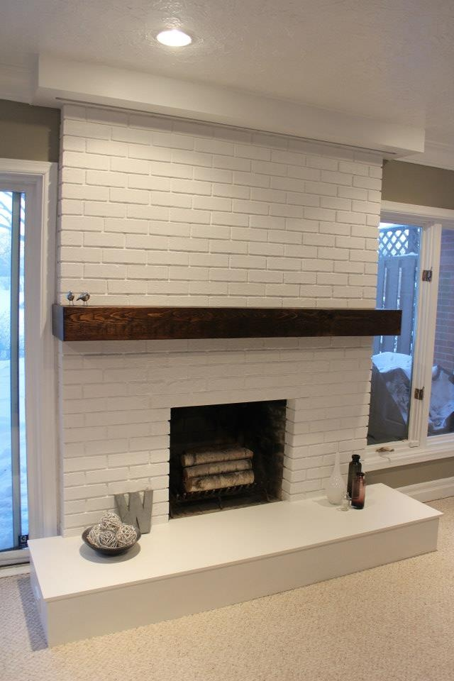 Whitewash Fireplace Photos 25 Painted Brick Fireplaces In The Living Room