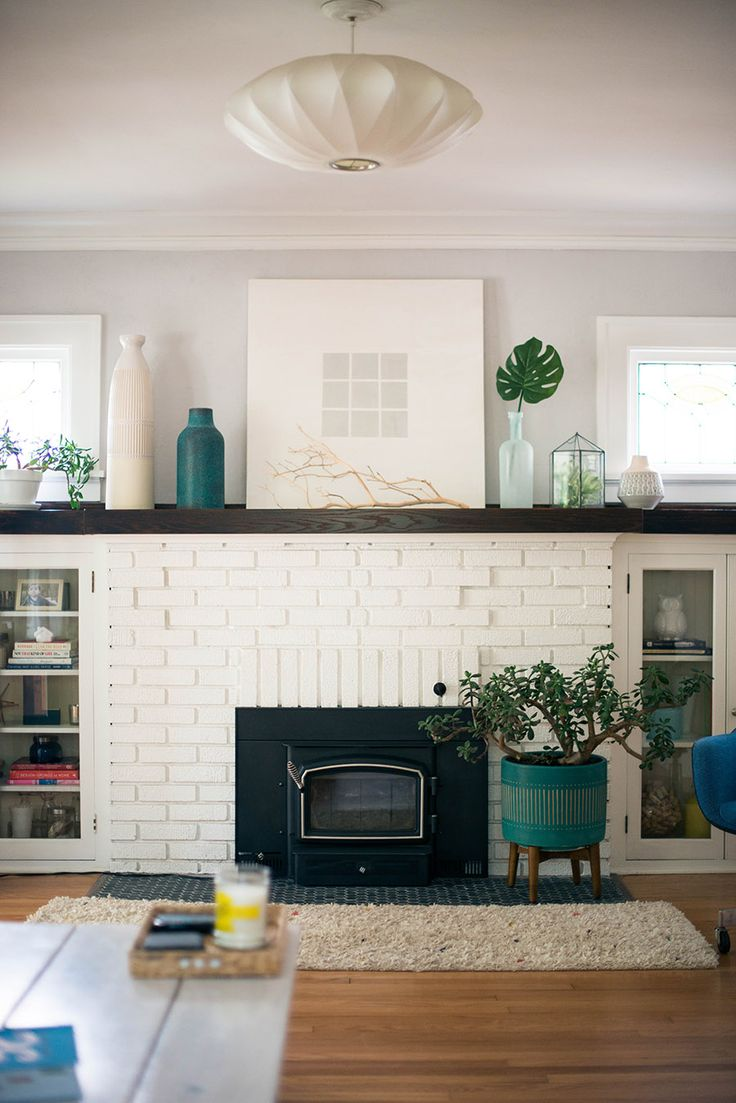 Painted Brick Fireplaces In The Living Room