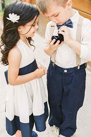 navy-blue-and-cream-suits-for-wedding-flower-girl-and-ring-bearer
