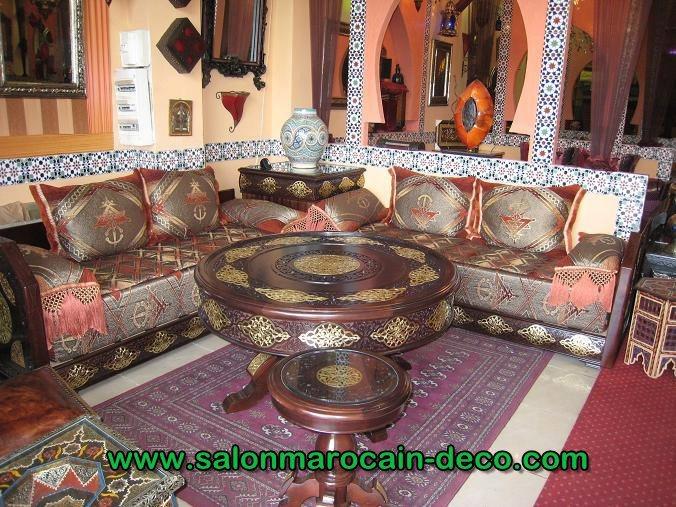 Vente de salon marocain oreintal confortable  decoration salon marocain