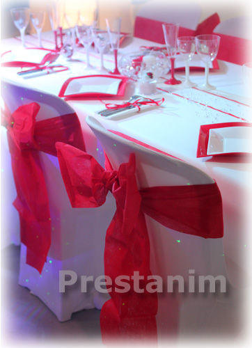 Decoration de mariage rouge blanc  Dcorations pour un mariage