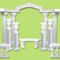 architectural accents wedding colonnades