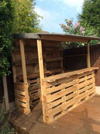 DIY OUTDOOR BAR IDEAS 14