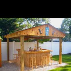 DIY OUTDOOR BAR IDEAS 18