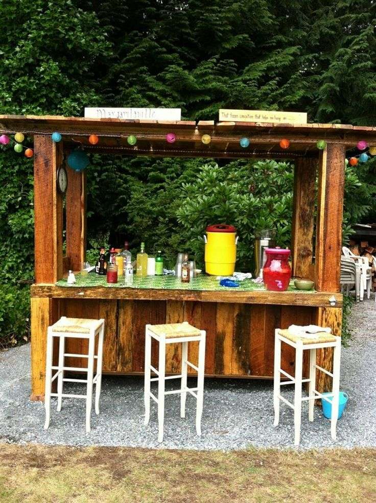 Outdoor Bar Ideas Part - 20: 80 Incredible DIY Outdoor Bar Ideas