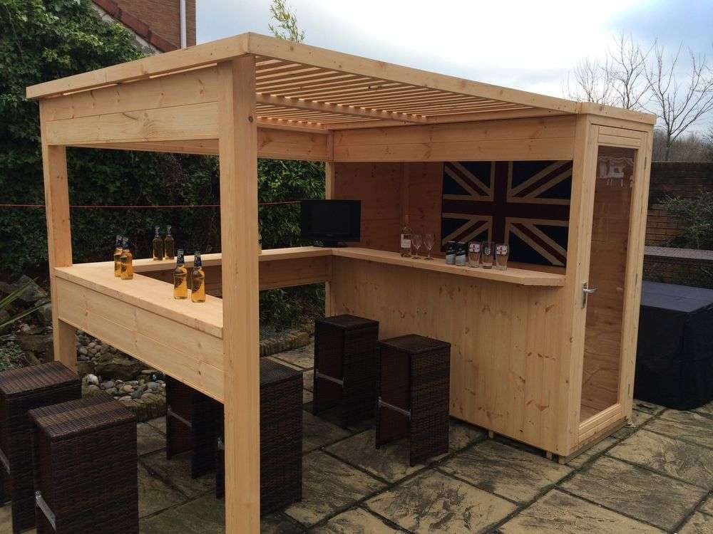 DIY OUTDOOR BAR IDEAS 54 - decoratoo on Small Backyard Bar Ideas id=45284