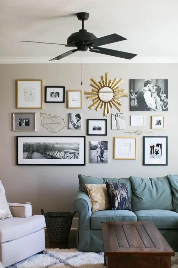 50 Stunning Photo Wall Gallery Ideas 23