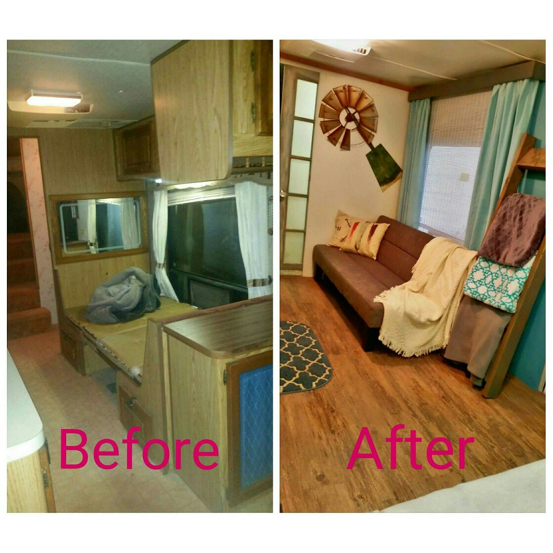 Fifth Wheel Remodel Before And After