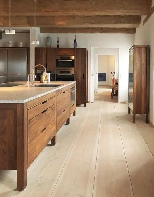 Modern Walnut Kitchen Cabinets Design Ideas 12