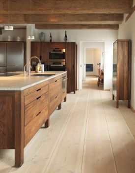 Modern Walnut Kitchen Cabinets Design Ideas 12