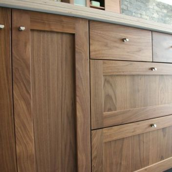 Modern Walnut Kitchen Cabinets Design Ideas 13