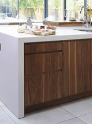 Modern Walnut Kitchen Cabinets Design Ideas 15