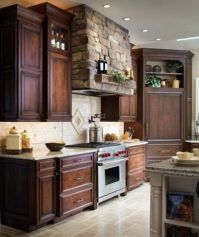 Modern Walnut Kitchen Cabinets Design Ideas 17