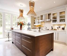 Modern Walnut Kitchen Cabinets Design Ideas 19