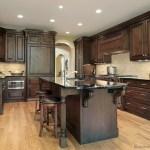 Modern Walnut Kitchen Cabinets Design Ideas 26