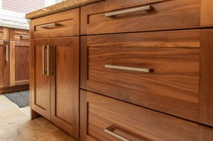 Modern Walnut Kitchen Cabinets Design Ideas 32