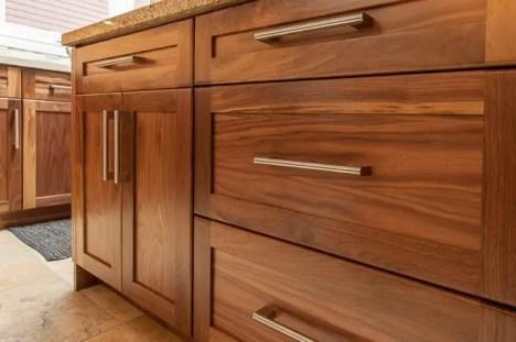Modern Walnut Kitchen Cabinets Design Ideas 32