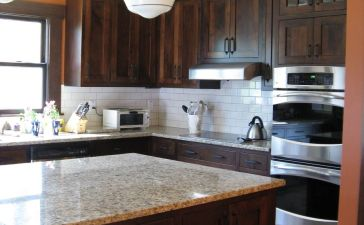 Modern Walnut Kitchen Cabinets Design Ideas 38