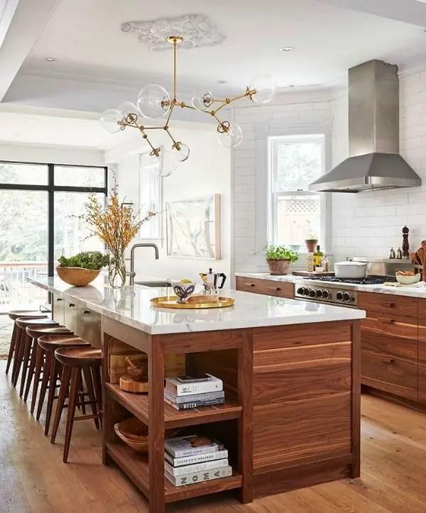 Modern Walnut Kitchen Cabinets: Modern Walnut Kitchen Cabinets Design Ideas 42