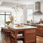 Modern Walnut Kitchen Cabinets Design Ideas 42