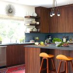 Modern Walnut Kitchen Cabinets Design Ideas 44