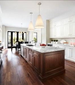 Modern Walnut Kitchen Cabinets Design Ideas 47