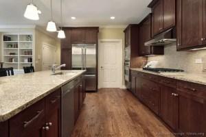 Modern Walnut Kitchen Cabinets Design Ideas 48