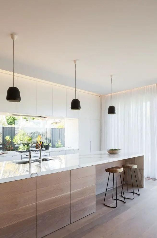 Modern Walnut Kitchen Cabinets Design Ideas 5