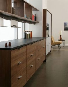 Modern Walnut Kitchen Cabinets Design Ideas 50
