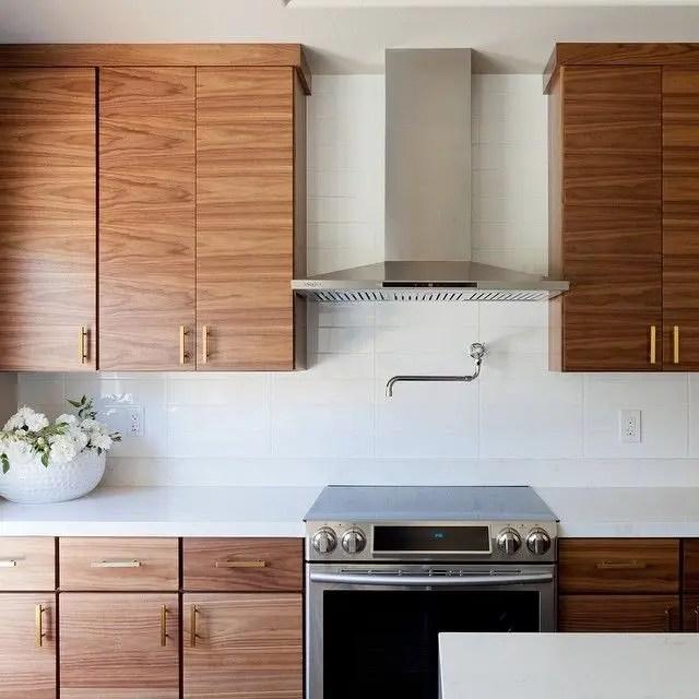 Modern Walnut Kitchen Cabinets Design Ideas 54 - decoratoo