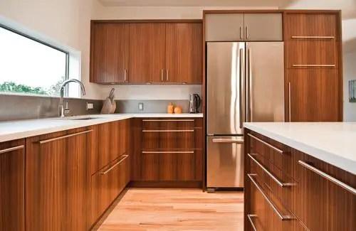 Modern Walnut Kitchen Cabinets Design Ideas 55