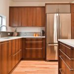 Modern Walnut Kitchen Cabinets Design Ideas 55