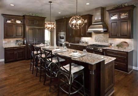 Modern Walnut Kitchen Cabinets Design Ideas 56