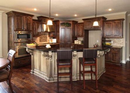 Modern Walnut Kitchen Cabinets Design Ideas 58