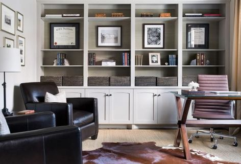 Office Built In Cabinets Ideas 11