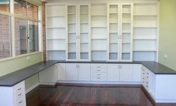 Office Built In Cabinets Ideas 14