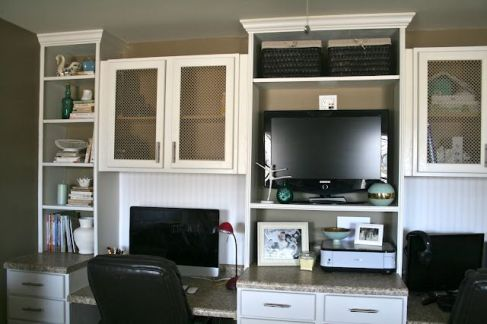 Office Built In Cabinets Ideas 16