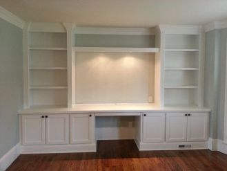 Office Built In Cabinets Ideas 29