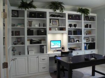 Office Built In Cabinets Ideas 53