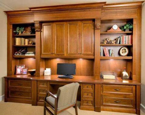 Office Built In Cabinets Ideas 64