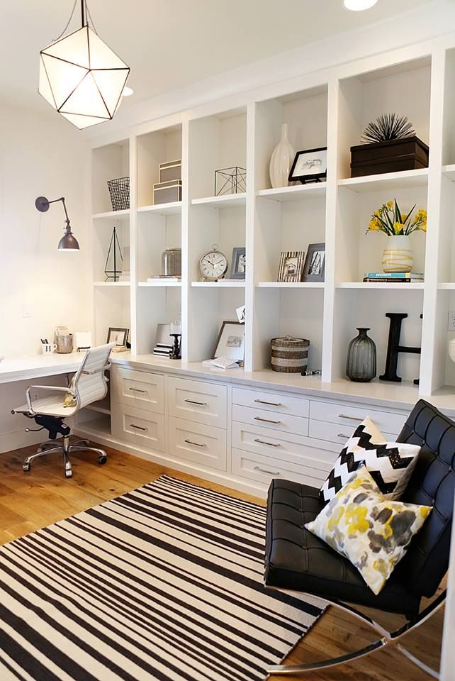 Office Built In Cabinets Ideas 70