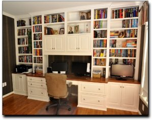 Office Built In Cabinets Ideas 71