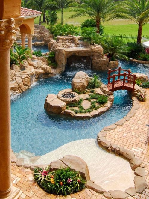 Beautiful Backyards With Pools 55