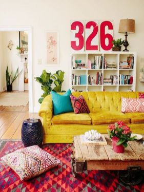 Bright Living Room Decor Ideas 111