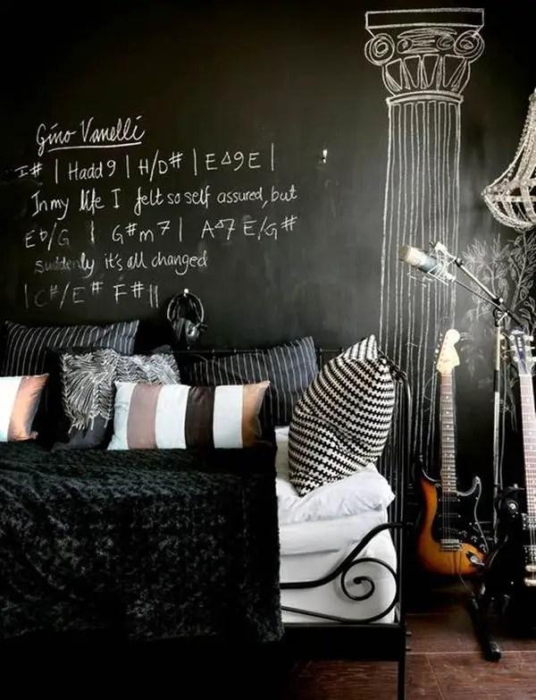 Chalk Wall Bedroom Ideas 32