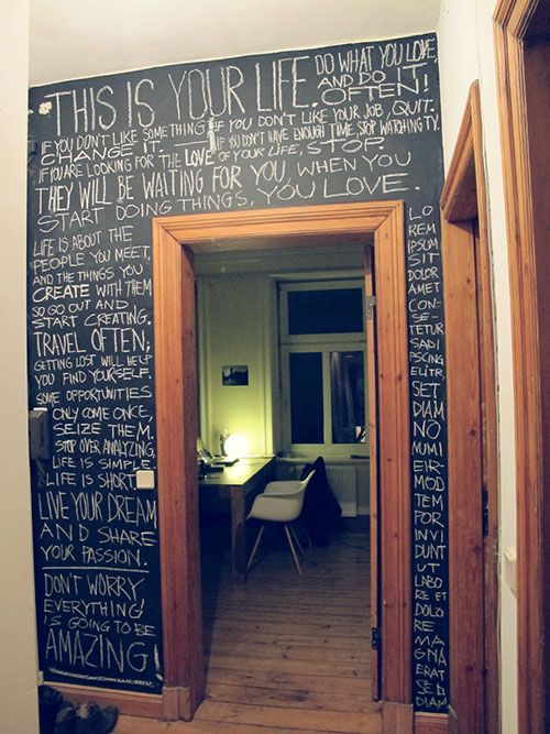 Chalk Wall Bedroom Ideas 49