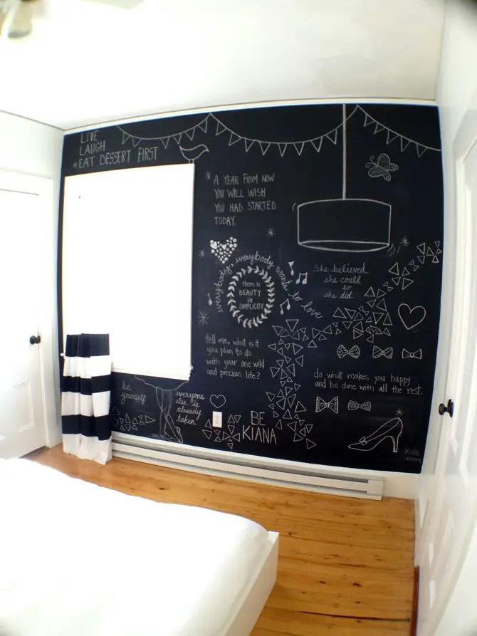 Chalk Wall Bedroom Ideas 94
