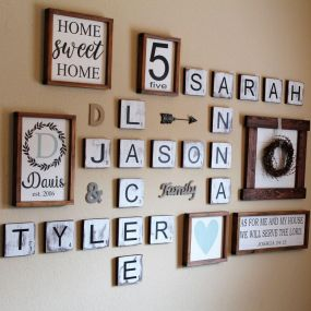 Farmhouse Gallery Wall Ideas 42